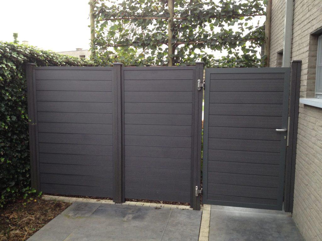 Composite poort D-fence