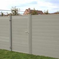 Houtcomposiet poort D-fence